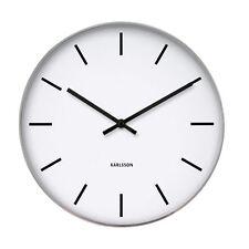 Karlsson Wall Clock Station Classic White Face 37.5cm Diameter
