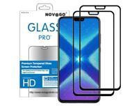 Huawei Honor 8X  - 2 Films Protection écran Verre trempé couvrant tout l'écran