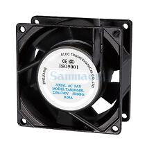 220 V AC 80x80x38mm Axial Radiateur Ventilateur 29CFM 2700 tr/min Roulement à billes haute vitesse