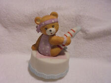 Vintage & Rare Ballet/Workout Bear Music Box By San Francisco Music Co.