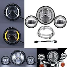 "Motorcycle 7"" LED Daymaker Headlight Passing Light for Harley Davidson Touring"