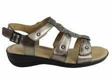 NEW HUSH PUPPIES CARMIN WOMENS COMFORTABLE LEATHER ADJUSTABLE FLAT SANDALS