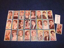 1955 BARBERS TEA CINEMA AND TELEVISION STARS COMPLETE 1993 REPRINT SET (B417-8)