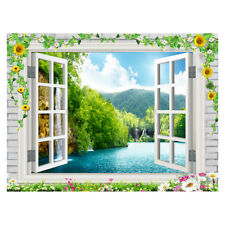 Wall Decoration 3D Hanging Tapestry Beach Towel Picnic Mat Window Flower #12