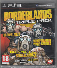 Borderlands Triple Pack PS3 Sony PlayStation 3 Brand New Sealed 1, 2, pre sequel