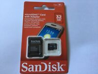 1pc New sealed 32gb Sandisk micro SDHC MEMORY CARD + SanDisk ADAPTER camera,cell
