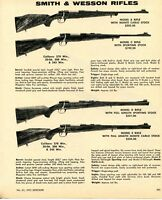 1972 Print Ad of Smith & Wesson S&W Model B C D & E Rifle