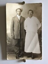 Americana African American Couple Suit Hat Photo Black White 1916 WW1 W14