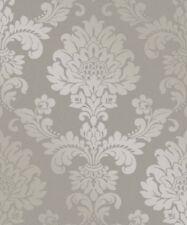 Fine Decor 'Pure' Quartz Metallic Glitter Damask Wallpaper Pewter Grey (FD41975)