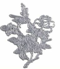 Rose/flower & bird metal die - for use in most cutting systems!