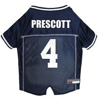 Dak Prescott #4 Dallas Cowboys Licensed NFLPA Dog Jersey Navy, Sizes XS-XL