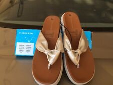 St. John's Bay Gold and Tan thong or flip-flop type sandal size 7.5M NEW