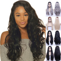 Fashion Women Long Hair Full Wig Lace Front Wig Real Thick Hair Heat Resistant