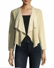 French Connection Women's Honey Suede Fringed Jacket Palm/Sands Size Medium $498
