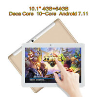 """10.1"""" 4GB+64GB Tablet Computer PC Android 7.11 Deca Core Phablet Built-in MIC"""
