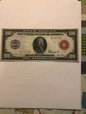 VTG Vintage REPRODUCTION $100,000 Confederate Treasury Note; printed both sides