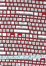 Fat Quarter Back Talk Keyboard 100% Cotton Quilting Fabric Txt Spk Emoticons Red