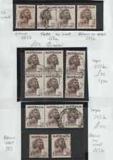 Australia 1952-1965 2/6 Aborigine Brown / Sepia SG #253, 253b, 253ba Used £157