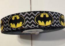 "3 yards 7/8"" Grosgrain Ribbon Superhero /Batman DIY Hair Bow"