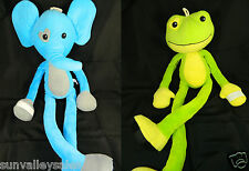 Stretchkins Stretch Kins Plush Frog & Elephant Lot of 2 Characters