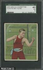 1910 T218 Mecca Cigarettes Boxing Patsey Kline SGC 40 VG 3