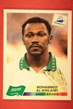 PANINI WC WM FRANCE 98 1998 195 SAUDI ARABIA WITH BLACK BACK MINT!!
