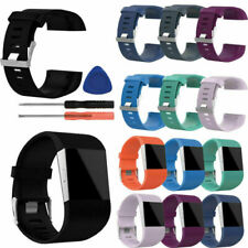 Soft Silicone Rubber Replacement Band Wrist Strap + Tool Kit For Fitbit Surge