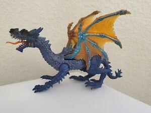 "Vintage Chap Mei China Medieval Fantasy Dragon Toy Action Figure 9"" Blue Orange"