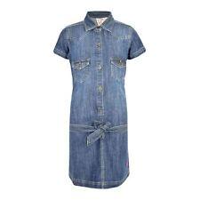 Vestidos de niña de 2 a 16 años azul de poliéster
