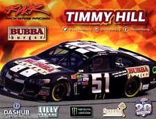 "2017 TIMMY HILL ""BUBBA BURGERS"" #51 MONSTER ENERGY NASCAR CUP POSTCARD"