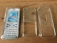 2 x CLEAR CRYSTAL HARD PLASTIC CASES COVERS SHELLS - NOKIA 6234 MOBILE PHONE