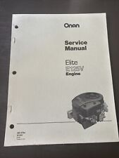 ONAN Elite E125V Engine Service Shop Manual Book Guide Repair Overhaul Workshop