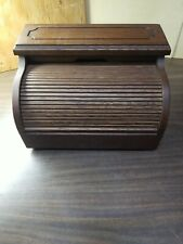 Vintage 1981 Western Electric Hide a Phone Push Button Corded Roll Top Wood Box