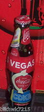 2014 WORLD OF COCA COLA LAS VEGAS SIGNS 8 OUNCE WRAPPED GLASS  COCA COLA BOTTLE