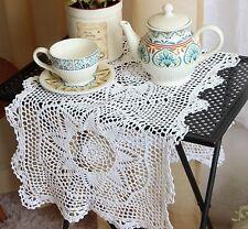 Again @ Elegant White Flower Hand Crochet Cotton Table Runner