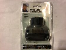 SWIVEL LENS LED HEAD LAMP LIGHTWEIGHT WITH  TWO AA BATTERIES INCLUDED