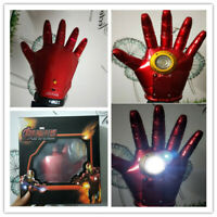 Marvel Superhero Iron Man Glowing COSPlay Prop Gauntlet Gloves LED 1PC Kids Gift