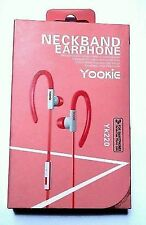 Yookie Pink&white Earphone Handsfree Sports Neckband for iPhone Mp3 iPod