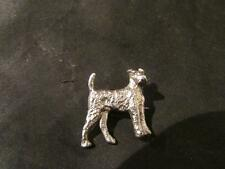 Silver Engraved Dog Brooch Lovely Art Deco Solid