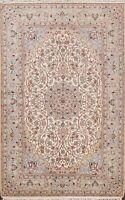 Woo/ Silk Najafabad Vegetable Dye Floral Area Rug Hand-knotted Oriental Wool 5x8