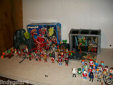 VINTAGE PLAYMOBILE GEOBRA LOT DRAGON GLADIATORS PIRATES DOCTOR 50 FIGURES 74 -04