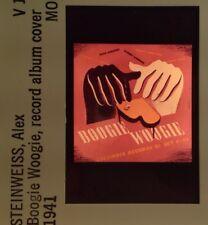 "Alex Steinweiss ""Boogie Woogie Record Cover 1941"" Music Art 35mm Slide"
