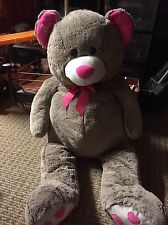Justice Logo Bear Plush Stuffed Animal Toy 3 Ft Tall!! Adorable~ Soft~ NWOT