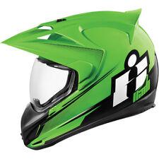 ICON VARIANT DOUBLE STACK KAWASAKI RACING GREEN MOTORCYCLE CRASH HELMET