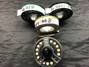 Greys GRX #7/8 fly fishing reel with #8,#7/8, spare spools