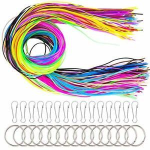 Pipe 200 PCS Scoubidou Strings DIY Plastic Lacing Cord Handwork in 20 Colors