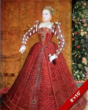 QUEEN ELIZABETH I IN RED DRESS PORTRAIT PAINTING ENGLAND ART REAL CANVASPRINT