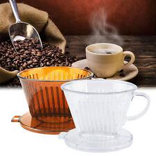 PP Resin Coffee Filter Cup Drip Coffee Filter Manually Follicular Filter GU