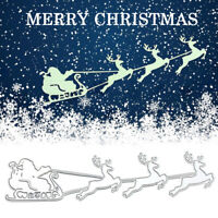 Christmas Deer Sleigh Metal Cutting Dies Stencils DIY Paper Cards Die Cuts Craft
