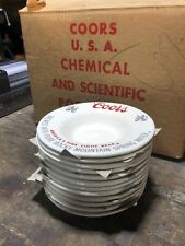 10Nos Collector Vintage 1970's Coors Beer Company Ceramic Ashtrays Coors Ashtray